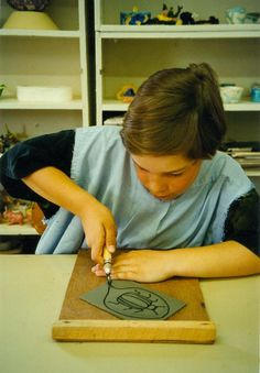 excellent post on linoleum relief prints. From Art for Small Hands