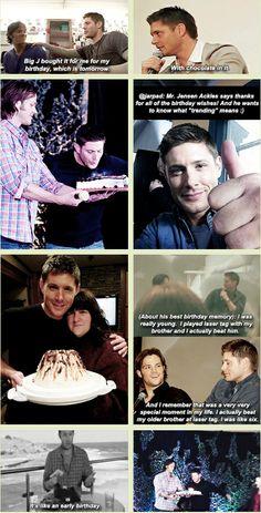 [GIFSET] Jensen's birthdays through the years...
