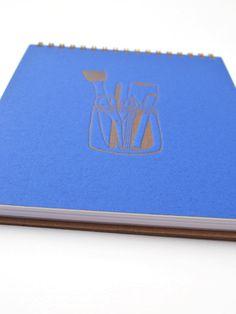 Artist's Tools Notebook Spiral Bound Journal by hartfordprints