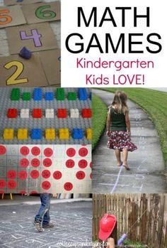 Active Math Games for Kindergarten and Preschool Kids!