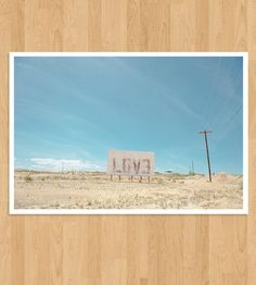 Love Sign Photo Print by Nine Photography