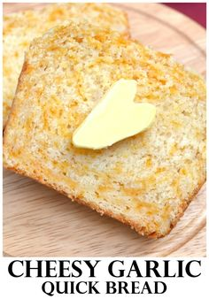 A garlic cheddar cheese quick bread ready in about an hour from start to finish. Easy, cheesy, foolproof - delicious | www.craftycookingmama.com