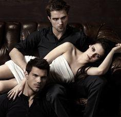 Robert Pattinson, Taylor Lautner, Kristen Stewart. The Trio.