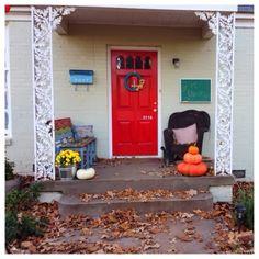 front door in fall