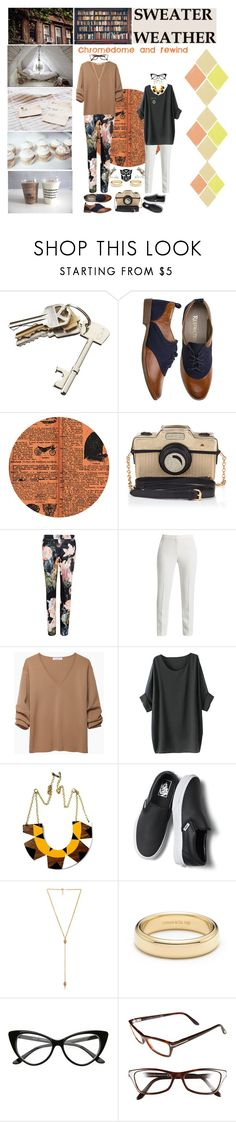 """autumnbots rooftop romance 2"" by femme-mecha ❤ liked on Polyvore featuring CB2, Prim Rose, Oxford, Accessorize, Ted Baker, BCBGMAXAZRIA, J.W. Anderson, Voz Collective, Vans and Ettika"