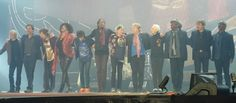 The Rolling Stones whole members for a good-bye at final.... - Nov. 22th. 2014