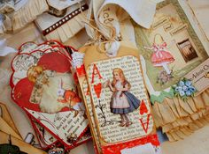 alice tags by Karla's Cottage, via Flickr