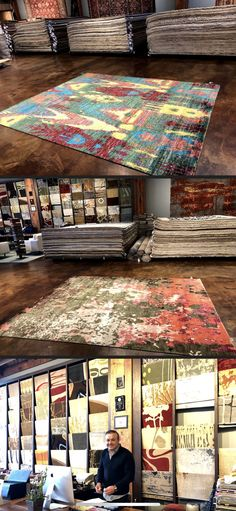 Handwoven modern rugs and oriental rugs. Contemporary Rugs, Modern Rugs, Menlo Park, Rug Store, Rug Making, Handmade Rugs, Showroom, Istanbul, Hand Weaving