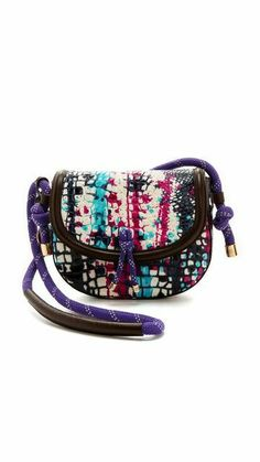 Painted Leather Cross Body Bag