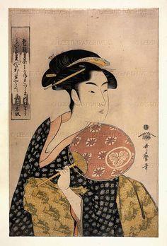 Kitagawa Utamaro  Ohisa of the Takashima tea-shop, Edo period, Japan…