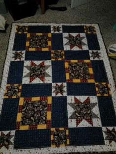 "Quilt""paisley and stars"