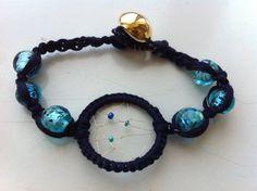 Navy Blue Dream Catcher Beaded Bracelet by SundaySpecials on Etsy, $10.00