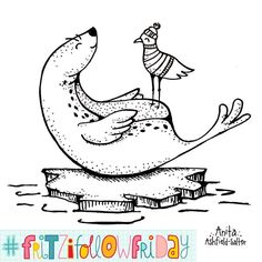 Oh yes! It is #fritzifollowfriday time!  Today I want to introduce you to @monkeymindesign. Anita's Doodles always have some cute and fun characters involved. You should also totally should check out her etsy store. She offers many colorful art prints and greeting cards over there  - - - - - - - So hop over to  @monkeymindesign @monkeymindesign @monkeymindesign  and tell her @byjohannafritz sent you  - - - - - - Do you want to be featured at an upcoming #fritzifollowfriday? Then doodle the…