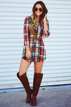 Farmer's Daughter Dress: Brown/Multi #shophopes