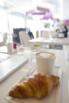French Croissant with Coffee