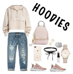 """""""HODIES"""" by margottinad on Polyvore featuring moda, Hollister Co., Ivy Park, NIKE, MICHAEL Michael Kors, ROSEFIELD, Madewell, Bobbi Brown Cosmetics e Hoodies"""