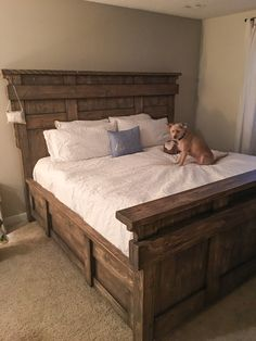 a40cac42940a DIY King Size Bed Free Plans - Free Woodworking Plans and tutorial by  www.shanty