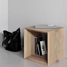 Closed Cube S Teak Table   ETHNICRAFT   DomésticoShop