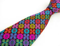 This is way too groovy!  Hey, I found this really awesome Etsy listing at https://www.etsy.com/listing/164831193/mens-tie-black-floral-necktie