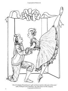 Nutcracker Ballet Coloring Book Dover Holiday Brenda Sneathen Mattox 9780486440224