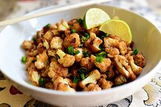 Spicy Cauliflower Stir Fry - I like that it's not trying to be rice, or pizza, or mashed potatoes.