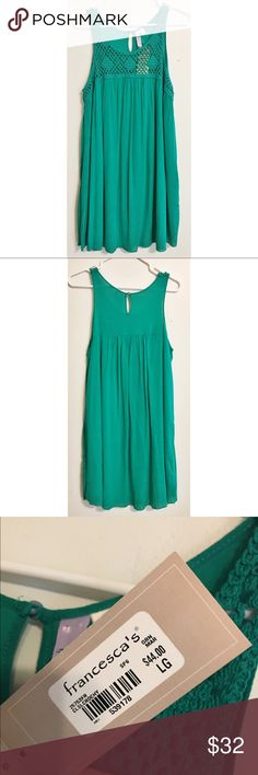 NWT Alya from Francesca's Collections Dress Medium NWT Teal Dress by Alya size Medium. Francesca's Collections Dresses Midi