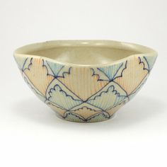 "Lattice and Stripe bowl by ""dawndishawceramics"""