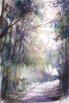 Watercolor, 22 x 15 inches, sold.  Aquarela, 56 x 38 cm, vendida.