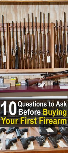 10 Questions To Ask Before Buying Your First Firearm. Before you buy a gun, you need to ask yourself these 10 questions and answer them as honestly as you can: Disaster Preparedness, Survival Prepping, Survival Gear, Survival Skills, Zombies Survival, Survival Weapons, Home Safety Tips, Living Off The Land, Urban Survival