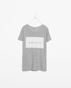 ZARA - NEW THIS WEEK - T-SHIRT WITH TEXT
