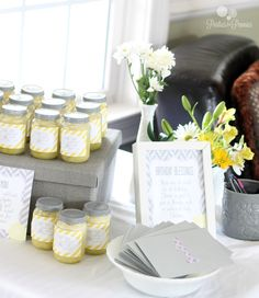 Lemon Sugar Scrub as Baby Shower favor | PartiesforPennies.com