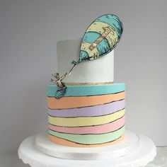Oh, The Places You'll Go Dr. Seuss  cake / cake_whisperer