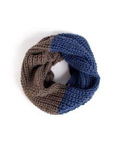 colorblock knit infinity scarf.. cozy