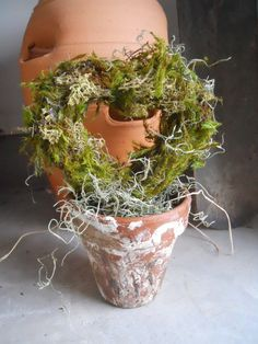 Wedding Decor French Pots Table Decoration Moss by mabelleamie1316, $32.00