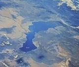Viewing Earth from on High: Africa's Lake Turkana appears in this Space Shuttle photo.