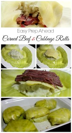 Easy Prep Corned Beef and Cabbage Rolls - Real: The Kitchen and Beyond patricks day food cabbage Corned Beef and Cabbage Rolls Corn Beef And Cabbage, Cabbage Rolls, Cabbage Recipes, Beef Recipes, Cooking Recipes, Healthy Recipes, Recipies, Beef Meals, Budget Recipes