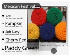 Red Heart Super Saver Color Mix: Mexican Festival