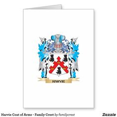 Harvie Coat of Arms - Family Crest Card