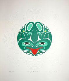 Tlingit Frog Story  Print by Wayne Carlick