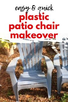 If you're wondering how can I make my plastic chairs look better? Check out this easy idea how to revive plastic garden furniture. This quick idea is how to make plastic chairs look nice and make your outdoor furniture look new again. Plastic Garden Furniture, Plastic Patio Chairs, Diy Outdoor Furniture, Outdoor Planters, Outdoor Chairs, Outdoor Cupboard, Hotel Decor, Chair Makeover, Diy Patio