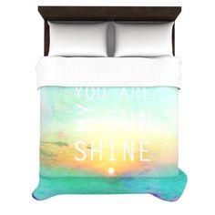 "Alison Coxon ""You Are My Sunshine"" Duvet Cover | KESS InHouse"