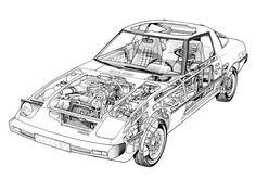 1978-81 Mazda RX-7 (SA) - Illustrated by Robin Levey