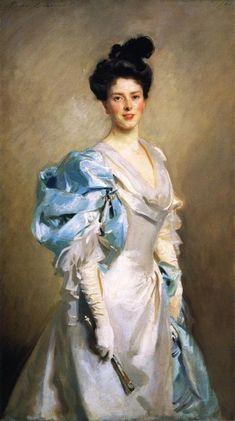 John Singer Sargent Mrs. Joseph Chamberlain - Handmade Oil Painting Reproduction on Canvas