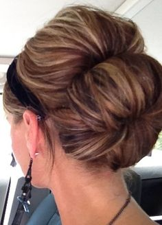Pretty highlights. But seriously, I like this sock bun.