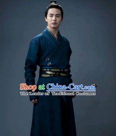Ancient Asian Swordsman Knight Hanfu Dress Outfits for Men