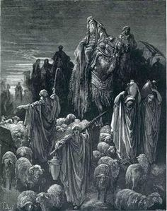 Jacob Goeth Into Egypt - Gustave Dore