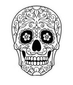 Sugar Skull Outline, Day Of The Dead Skull Coloring Pagesjpg ...