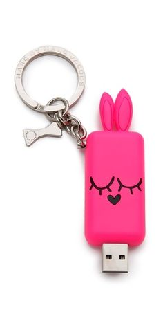 a bunny usb keychain.. perfect for the tech geek! Marc by mj.