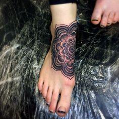 #peterkoskela #feet #Mandala #anchoredarttattoo #tattoos