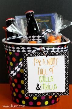 CUTE Halloween Movie Night Gift Idea { lilluna.com }
